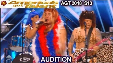 """Spice Pistols Drag Band Act """"If You Wanna Be My Lover"""" America's Got Talent 2018 Audition AGT"""
