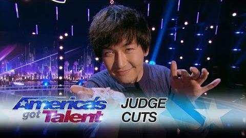 Visualist Will Tsai Magician Makes Pet Fish Reappear - America's Got Talent 2017