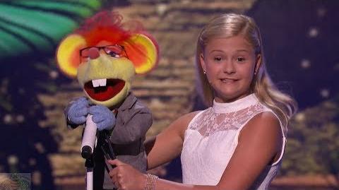 America's Got Talent 2017 Darci Lynne Performance & Comments Live Shows S12E13