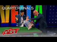 Dustin Tavella Surprises The Judges With Unbelievable Card Magic - America's Got Talent 2021