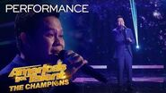 """Marcelito Pomoy Sings """"Beauty And The Beast"""" With DUAL VOICES! - America's Got Talent The Champions"""