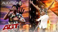 Golden Buzzer Joseph Allen Leaves Exciting Footprint With Original Song - America's Got Talent 2019