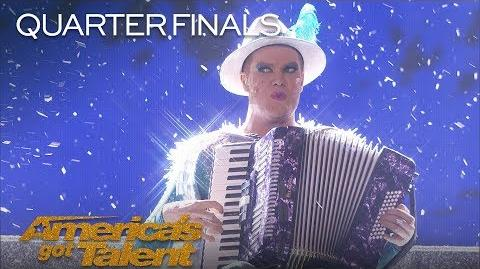 Hans German Superstar Spices Up Your Life With Winter Extravaganza - America's Got Talent 2018