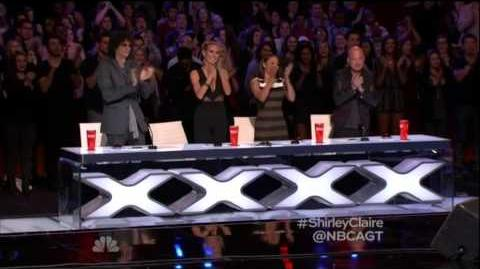 America's Got Talent 2015 Shirley Claire Auditions 2