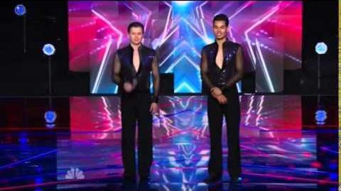 America's Got Talent 2014 John & Andrew New York Week Day 1