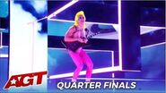 Bonavega Provocative Rock Performer Let's The CRAZY Out on @America's Got Talent