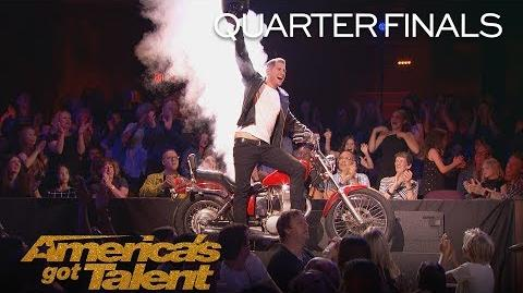 Rob Lake Magician Makes Motorcycle Appear Out Of Thin Air - America's Got Talent 2018
