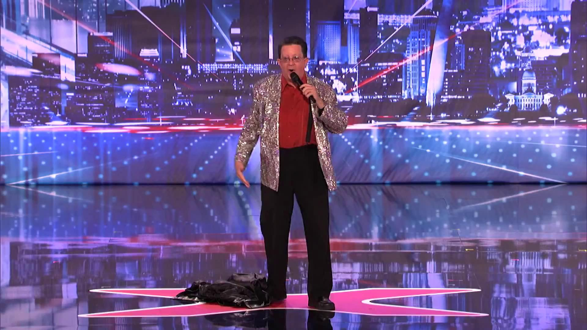 America's Got Talent 2013 - Season 8 - 114 - Perry Kurtz - Rap Song by 62-Year-Old Ex Male Stripper