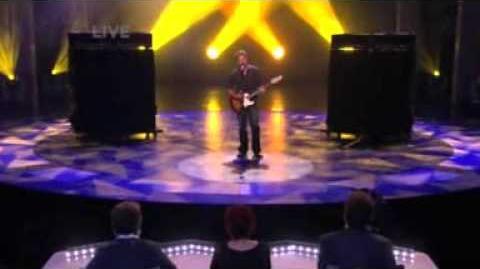 Drew Stevyns singing Careless Whisper AGT