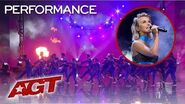 """Julianne Hough Delivers The WORLD PREMIERE of Her New Single """"Transform"""" - America's Got Talent 2019"""