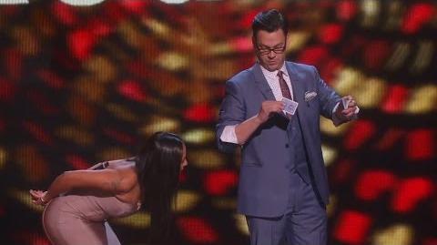 America's Got Talent 2015 S10E17 Live Shows - Derek Hughes Magician Comedian