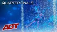 Hoop Aerialist Matthew Richardson Performs Striking Act IN WATER! - America's Got Talent 2019