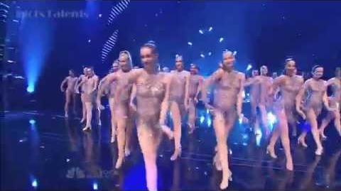 Pitbull - Fireball (Ft The Rockettes) - AGT 2014 (Finale)