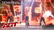 """Sexiest Acrobats On AGT?! Messoudi Brothers Perform To """"Pony"""" by Ginuwine - America's Got Talent"""