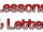 Lessons & Letters