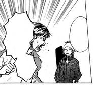 Tokiwa teasing Tarou on his recent triple-double performance