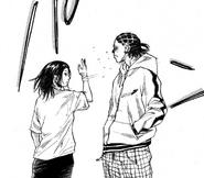 Madoka slaps Natsume for his rude behaviour