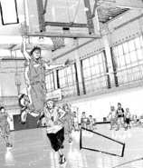 Tarou Kabachi attempting to Slam Dunk