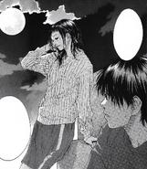 Sora admiring Madoka's attractive appearance