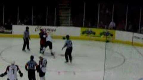 Hockey Fight Lake Erie Monsters