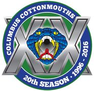 Columbus Cottonmouths 20th season logo