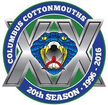 Columbus Cottonmouths 20th season logo.jpg
