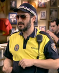 Riesgo con su uniforme