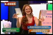 Lorena en un programa de tv