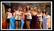 Lorena, Paz, Eugenia y las chicas