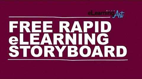 Free Rapid eLearning Storyboard