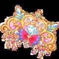 Heart crystal jewel