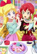 Aikatsu Friends! Poster Animedia January 2019