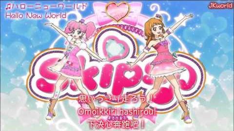 【HD】Aikatsu!_-_Hello_New_World(ハローニューワールド)_lyrics【中字】