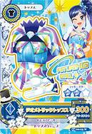 Card blusa azul con triangulos