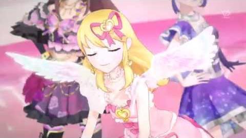 Aikatsu episode 22 Hoshimiya Ichigo , Kiriya Aoi y Shibuki Ran calender girl