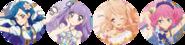 Aikatsu-4bd with Sora,Sumire,Mahiru & Laura