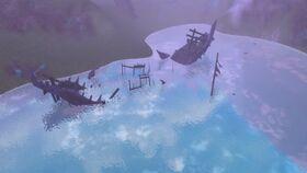 Ein Schiffswrack in Altgart