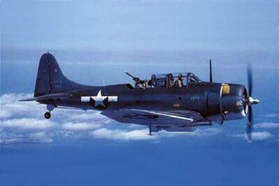 Douglas SBD-5 in flight colour.jpg