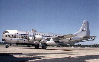A C-97 Stratofreighter.