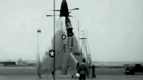 Convair XFY-1 Pogo Takeoff & Landing Test May 18, 1955 US Navy