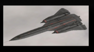 """E.D.A.F. SR-71A Blackbird from """"The Robbers"""" Over the cloud"""