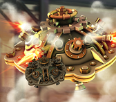 Steampunk saucer