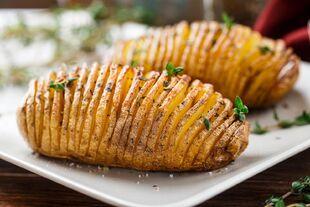 Delicious Herbed Hasselback Potato Recipe-1