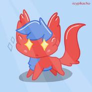 Red sparkle dude fullbody