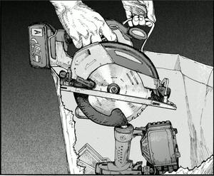テロ計画のために旅客機内で買い物袋から取り出されたサーキュラソー