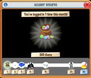 October 2021 Monthly Login Rewards