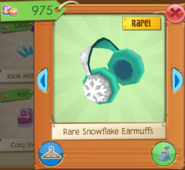 Rare snowflake earmuffs