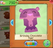Birthday chocolate tiger 3