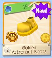 Salesman golden boots