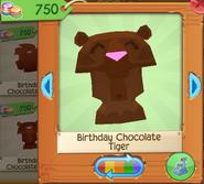 Birthday chocolate tiger 2